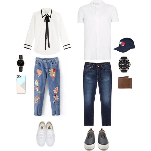 Couple set by natasha-esprecielo on Polyvore featuring Marc Jacobs, Vans, ROSEFIELD, Casetify, Topman, Nudie Jeans Co., Eytys, Gucci, Tommy Hilfiger and Levi's