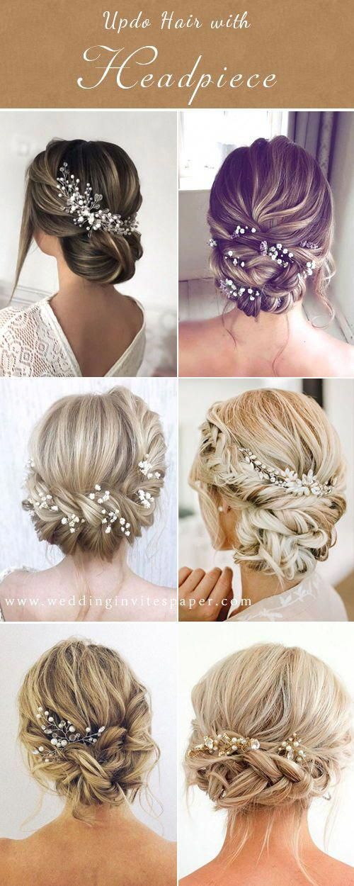 42 Gorgeous Wedding Hairstyles---elegant updo hairstyle with chic headpieces for country weddings, vintage weddings #Weddinghairstyles