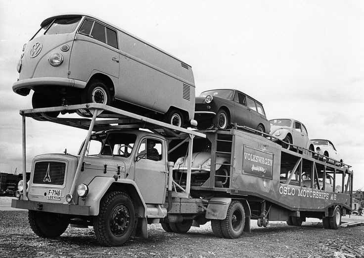 Oslo Motorships Company, hauling classic VW's in Norway 1960's