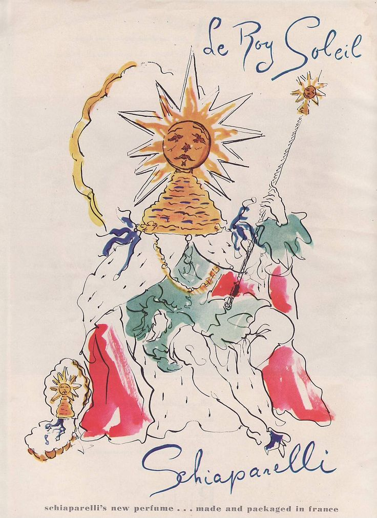 Schiaparelli Perfume Sun ad 1947