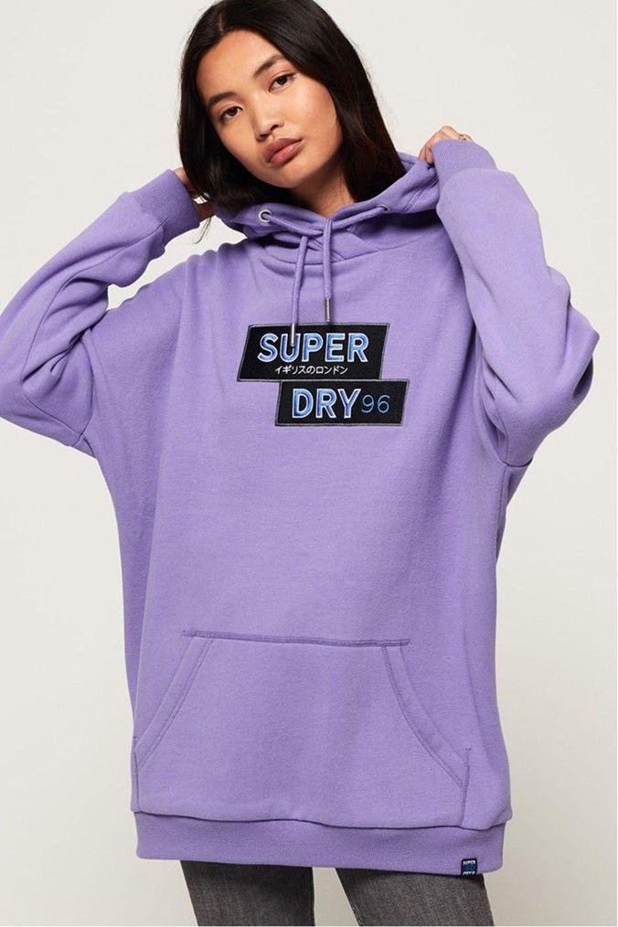 Superdry Womens Applique Funnel Hood Hoodie
