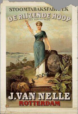 Mooie gedetailleerde prent van van Nelle.