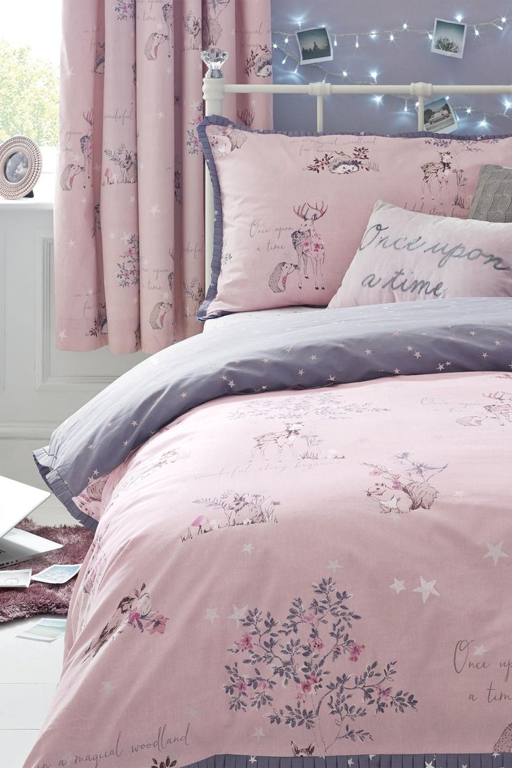buy fairy tale cotton rich print bed set from the next uk. Black Bedroom Furniture Sets. Home Design Ideas