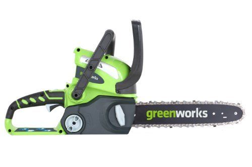 #3: GreenWorks 20292 G-MAX 40V 12-Inch Cordless Chainsaw Battery and Charger Not Included GreenWorks 20292 Cordless Chainsaw Included is a top quality pick in the highest selling products online in Home Garden  category in USA. Click below to see its Availability and Price in YOUR country.