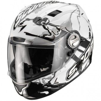 Casque Integral Scorpion EXO 1000 Air E11 Splash Blanc Noir http://www.icasque.com/Casque-moto/Integral/EXO-1000-Air-E11-Splash-Blanc-Noir/