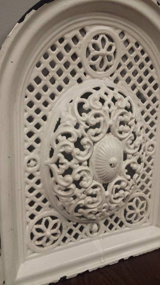 I'd use these as heater vents in my dream house!!!-----Vintage cast iron decorative piece by ApplegatesAntiques on Etsy