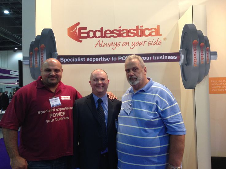 BIBA 2013 David Walton with Geoff Capes and Laurence Shahlaei (Britains Strongest Man)
