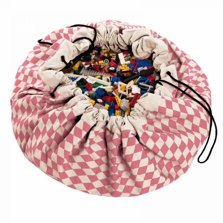 Play & Go - Worek na Klocki Różowe Romby