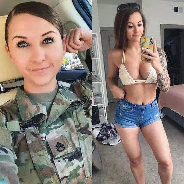 Naked women in the military