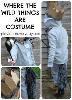 An easy to make, no sew costume for Max from the book Where the Wild Things Are, perfect for World Book Day.