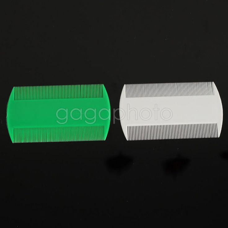 2x cheveux peigne poux puces double face en plastique enfants tte dtente ebay - Poux Sur Cheveux Colors