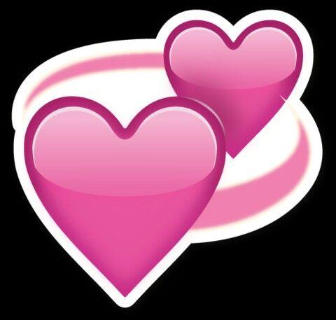 Парящие розовые сердца