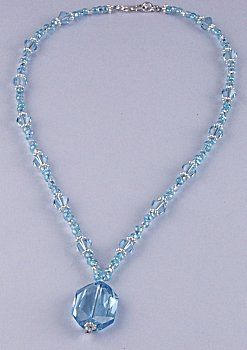 Jewelry Making Idea: March's Birthstone Shimmering Necklace (eebeads.com)