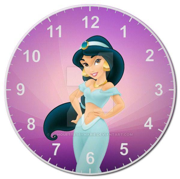 Jasmine Clock by SilhouettesbyMarie.deviantart.com on @DeviantArt