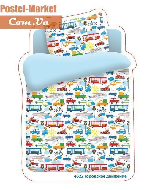 Постельное белье Городское движение Бязь в кроватку купить в интернет магазине Постель Маркет (Киев, Украина)