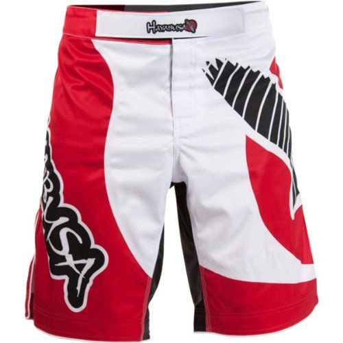Hayabusa Official MMA Chikara Performance Shorts - Red / Size 32 by Hayabusa Fightwear. $44.99. Innovative tie system with indestructible webbing for a distinct cutomized fit  Features our exclusive Mechanical PolyDirectional stretch fabric  High Tensile Strength Stretch Panel and Split Side Seams for Unrestricted Range of Motion  Contains Hayabusa's exclusive Guardlock inner grip waistband system  Reinforced T3 stitching for ultimate strength and durability  Permanent Fiber F...