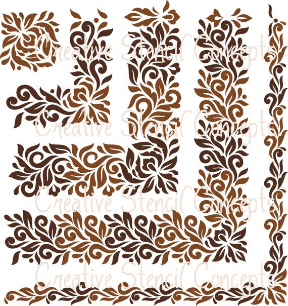 Classic Floral Damask Stencil Available in by CreativeStencils, $39.95