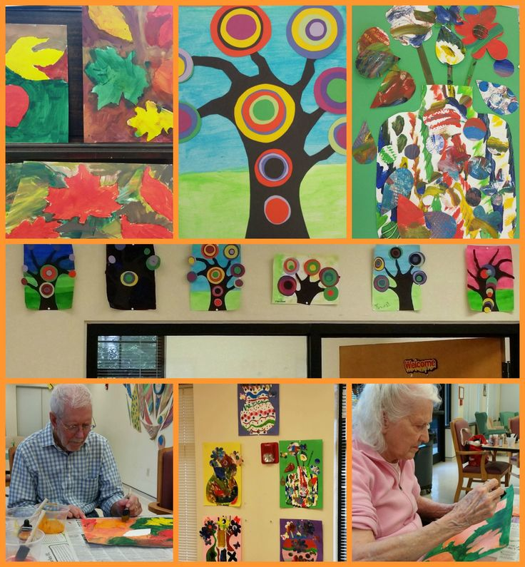 Projects from my art residency at an adult day care facility, including several over 90 years of age.