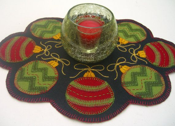 Ornaments to Go Candle May/Penny Rug Pattern with by PennyRugsPlus, $28.35