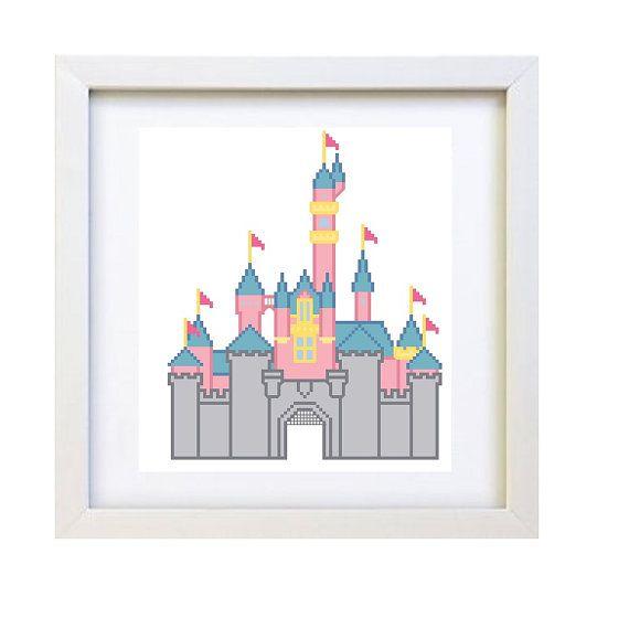 Sleeping Beauty Castle  Cross Stitch Pattern by peaceandstitches  #DISNEY #DISNEYLAND #SLEEPING #BEAUTY #CASTLE #CROSS #STITCH #PATTERN #PATTERNS