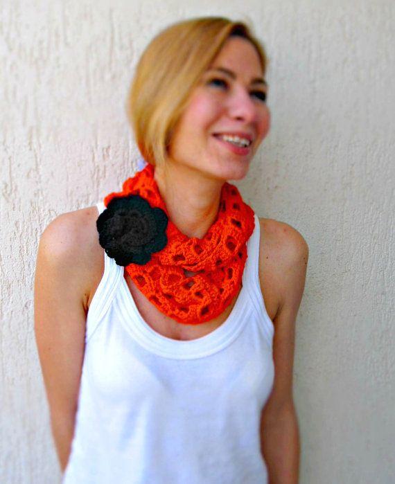 LikeFreja - orange scarf crochet