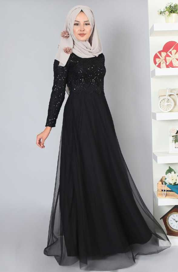 Pullu Tesettur Abiye Elbise Modelleri Elbise Modelleri Elbise Resmi Elbise