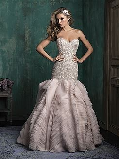 Bridal Gowns Allure Couture C346 Bridal Gown Image 1