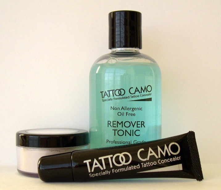 tattoo concealer in case I want to wear a strapless gown to an event or a skirt to a funeral.