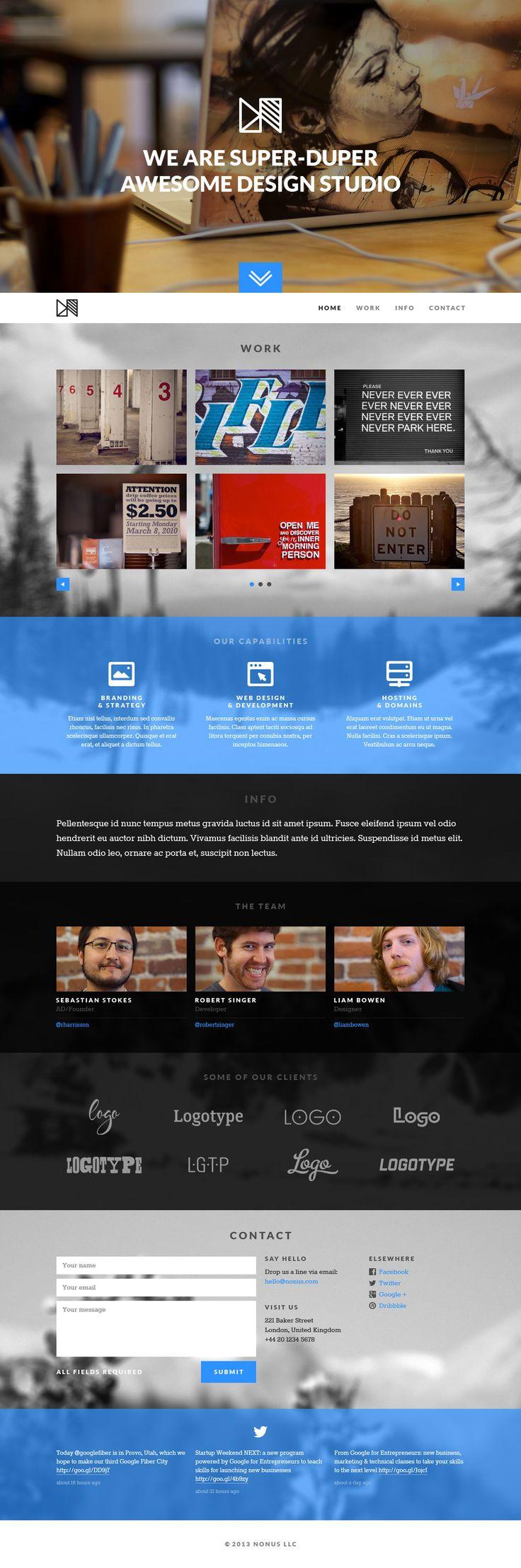 Nonus Parallax Wordpress Portfolio http://themeforest.net/item/nonus-parallax-wordpress-portfolio/5770359?ref=wpaw #web #design #wordpress