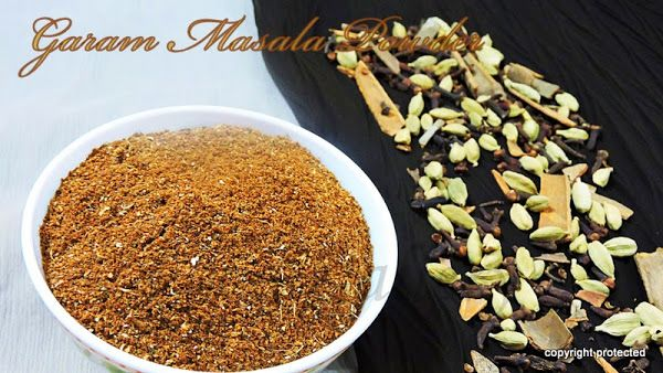 Garam Masala Powder -- the spice blend that adds a beautiful flavor to the dishes.  An indispensable item in an Indian kitchen.  To get more aroma in your curries, use this home-made garam masala powder.  #indianmasala #garammasala #currypowder #indianspices