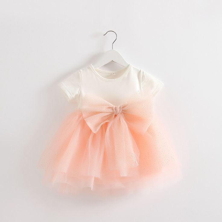 new 2016 summer baby girl dress newborn mesh princess dress Net Yarn bowknot stitching dress for baby infantil girls tutu dress B E S T Online Marketplace - SaleVenue |