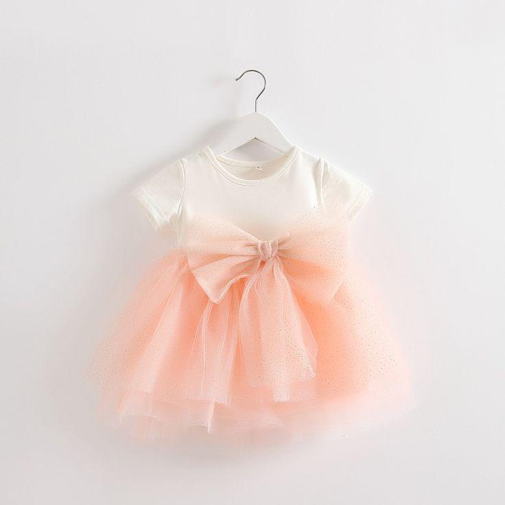 new 2016 summer baby girl dress newborn mesh princess dress Net Yarn bowknot stitching dress for baby infantil girls tutu dress B E S T Online Marketplace - SaleVenue  