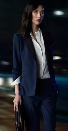 Tao Okamoto- #navy #suit with white shirt. I like how the white shirt cuffs the jacket. #Asian