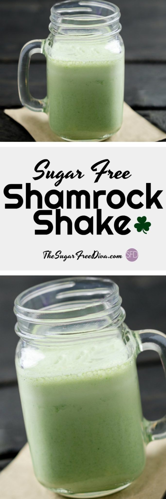 The perfect Copycat recipe for those of us to cut down on the sugar in out Shamrock Shake. #sugarfree #shamrock #shake #shamrockshake #lowsugar #copycat #recipe #yummy
