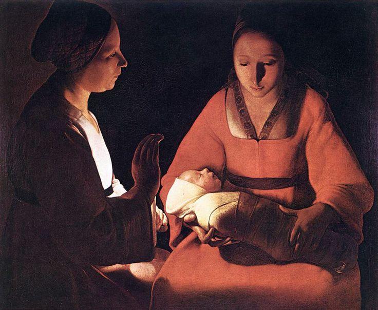 The Newborn : Georges La Tour : 1649 生誕(新生児、又はキリストの降誕) ラ・トゥール