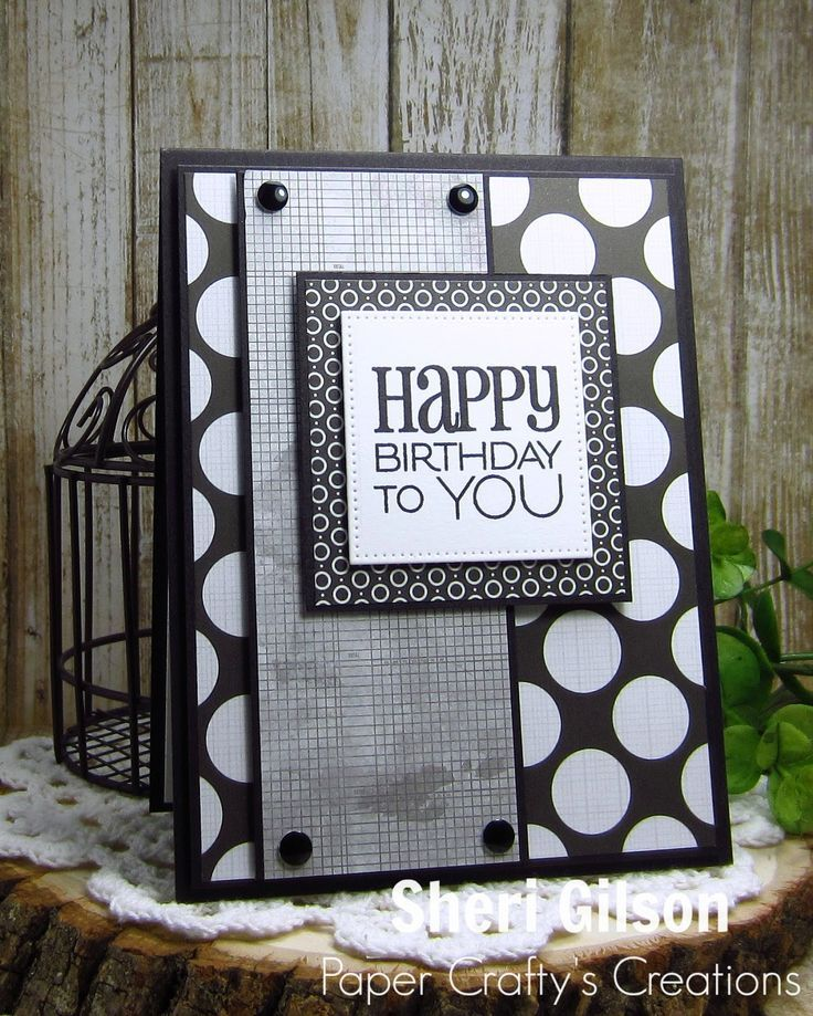 Masculine Card Making Ideas Part - 47: Male Card Handmade Birthday Card By Sheri Gilson Using The Birthday To You  Stamp From Verve.
