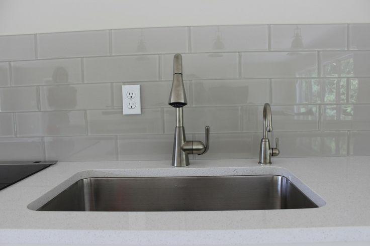 Light Grey Glass Backsplash: 1000+ Images About Gray Beige Glass Kitchen Tile On