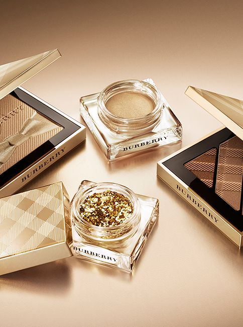 Complete your festive beauty look with Burberry make-up in warm metallic tones, including Gold Touch and Shimmer Dust.