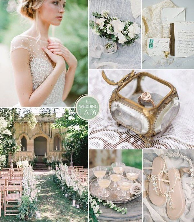 Today's inspiration takes the relaxed elegance of a garden wedding and adds a fresh #palette of green and blue to keep things relaxed! Check out the sweet details and full credits on the blog!