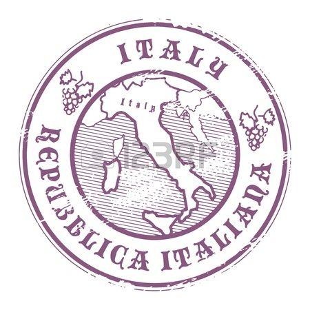 Grunge sello de goma con el nombre y el mapa de Italia Foto de archivo
