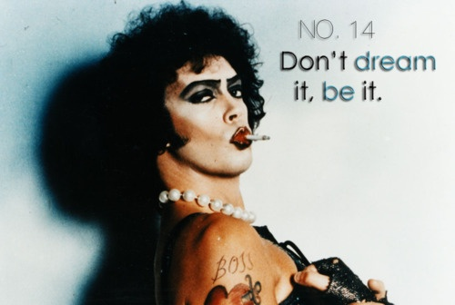 Rocky Horror Picture Show / Tim Curry -- why am I the only person who posts transvestite pics on pinterest?
