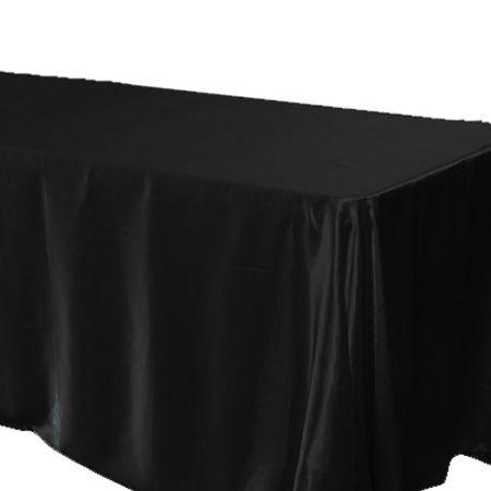 90 X 156 Black Satin Tablecloth Part 51