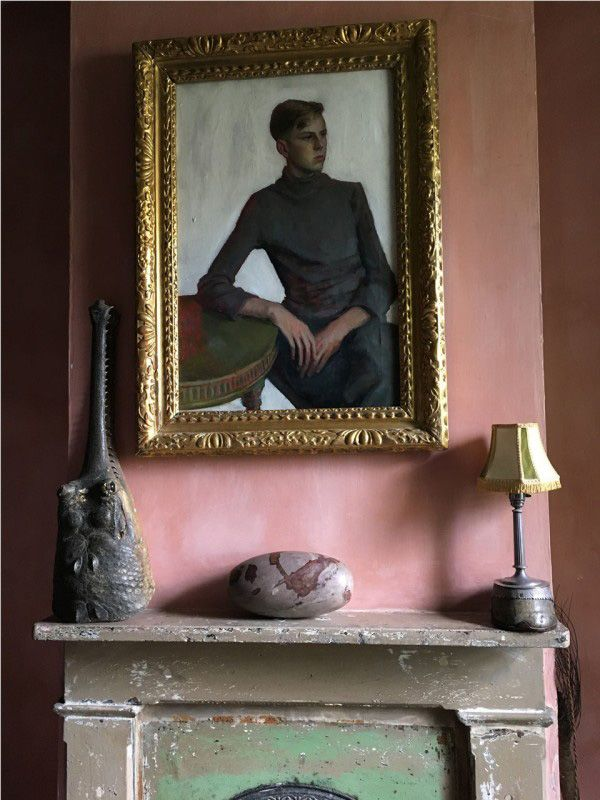 interior details - art on walls - colour - Malplaquet House