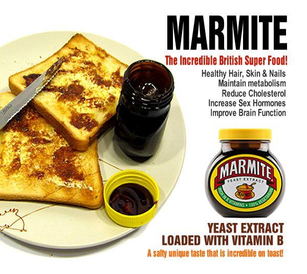 Marmite. The incredible British Superfood.