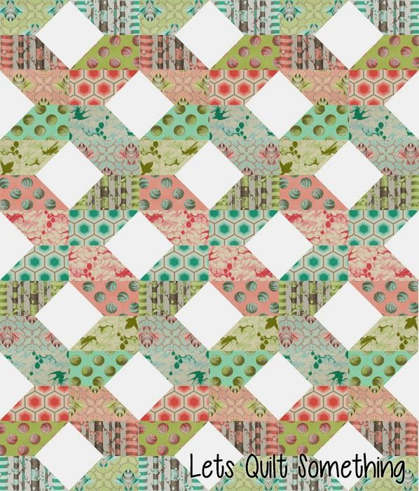 Lets Quilt Something: Large Fence - Free Layer Cake Pattern with Tula Pink Bumble Fabric