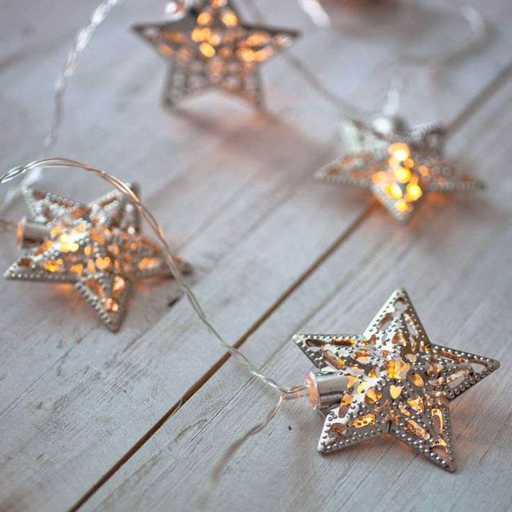 Filigree Star Battery Fairy Lights