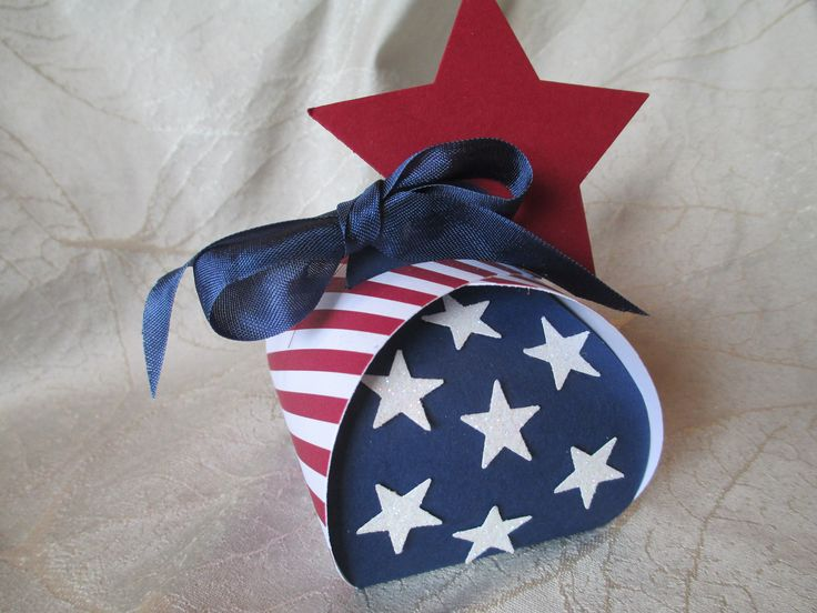 Curvy Keepsake Box created by Debi Paisie-2014 My Hero- Red, White and Blue - uses all Stampin'Up! products