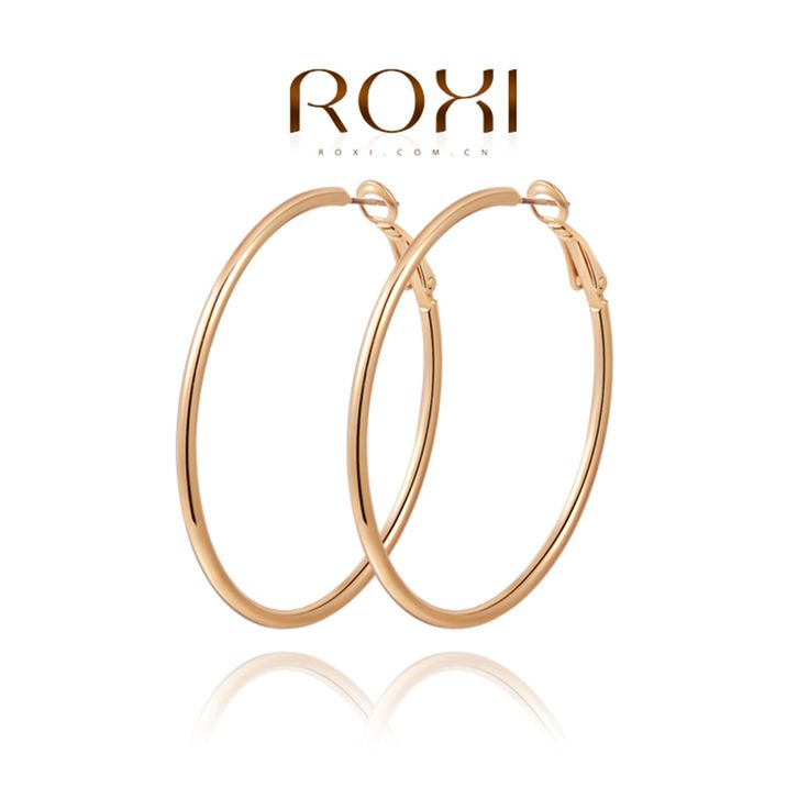 ROXI Earrings For Women Statement Round Circle Earrings Ladies Fashion Ornaments Pure Hand Made Elegant Christmas Weeding Gift