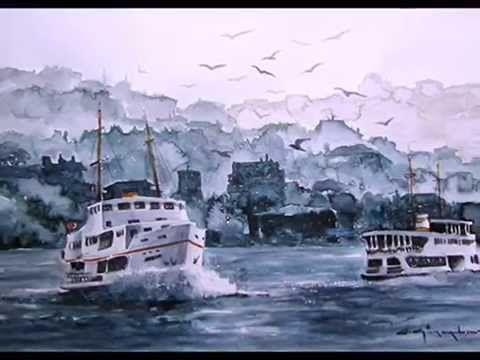 CELAL GÜNAYDIN - Türkish Artist Painter from TURKEI - Watercolor İstanbu...