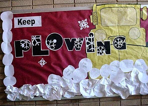 February Bulletin Board Ideas:  Keep Plowing Through Bulletin Board